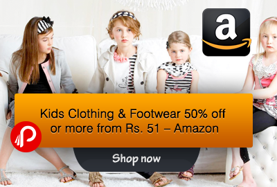 Kids Clothing and Footwear 50% off or more from Rs. 51 – Amazon
