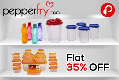 Tupperware Flat 35% off on PepperFry