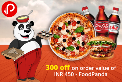 300 off on order value of INR 450 - FoodPanda
