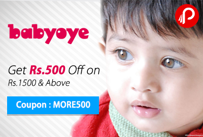 Get Rs.500 Off on Rs.1500 & Above (Babyoye)