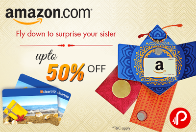 Gift Cards offer upto 50% off – Amazon