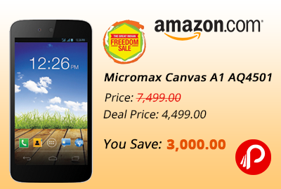 Rs. 4499 Micromax Canvas A1 AQ4501 (White) - Amazon