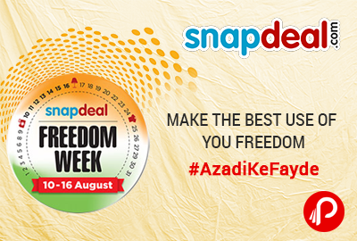 Snapdeal Brings Freedom Week Till 10 -16 August