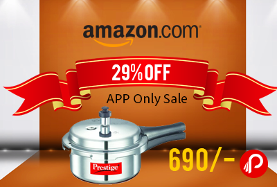 Prestige Popular Aluminium Pressure Cooker, 2 Litres (amazon.in)