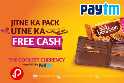 Free Mobile Recharge with Britannia Bourbon Pack - Paytm