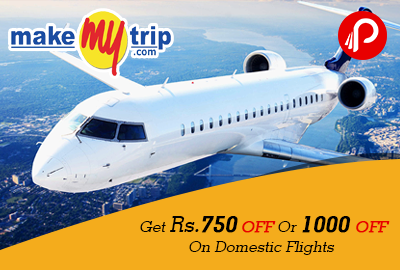 Get Rs.750 Off Or 1000 Off On Domestic Flights - MakeMyTrip