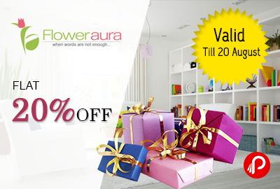 Flat 20% Off on Gift Products - Floweraura