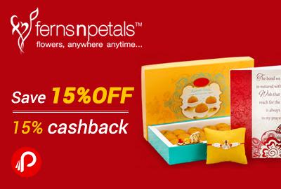 Save 15% off + 15% Mobikwik Cashback - FernsnPetals