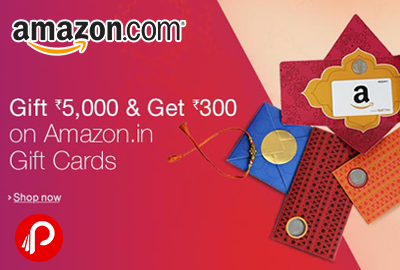 Get Free Rs.300 Amazon Gift Card on Purchase of Amazon Gift Cards – Amazon