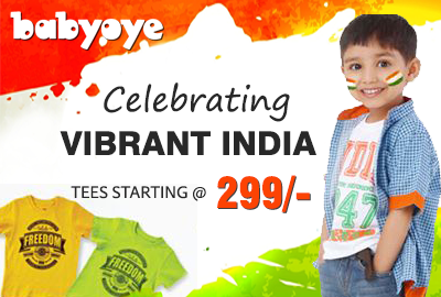 Independent Day Tees Sale start from rs.299 - BabyOye