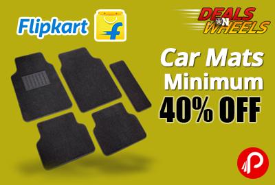 Get UPTO 40% off on Car Mats - Flipkart