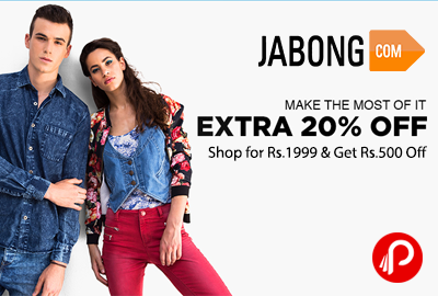 Get Shop Rs.500 Off on Rs.1999 shopping – Jabong