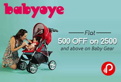 Get flat 500 off on 2500 and above on Baby Gear - Babyoye
