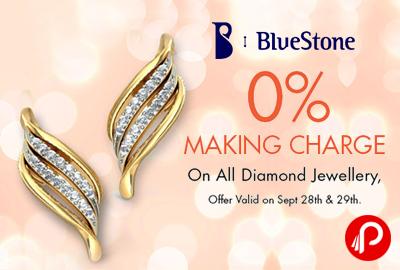 Get All Diamond Jewellery on 0% Making charge - Bluestone
