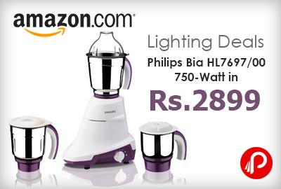 Get Philips Bia 750-Watt Mixer Grinder in Rs. 2899 Only - Amazon