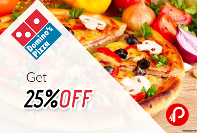 Get 25% off on 350 and 100 off on 400 - Domino