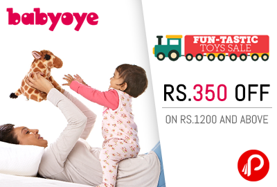 Get Flat 350 off on purchases 1200 and above on Toys - BabyOye
