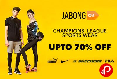 Get 70% off on SportsWear - Jabong