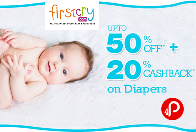 et UPTO 50% off + 20% Cashabck on Diapers - FirstCry