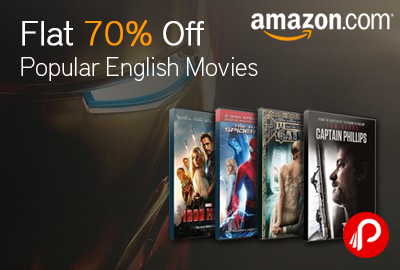 Get Flat 70% off on Popular English Movies - Amazon