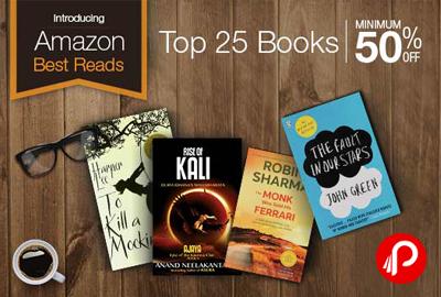 Get UPTO 50% off on Books – Amazon