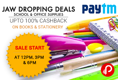 Get 100% Cashback on Books & Stationery – PayTm