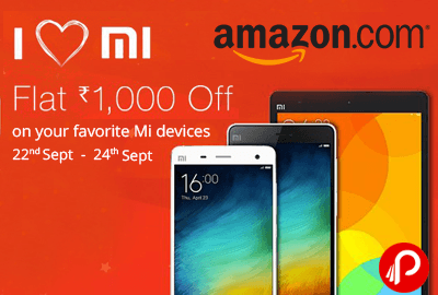 Get Flat Rs.1000 Off on Mi mobile & Mi Pad - Amazon