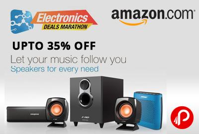 Get UPTO 35% of Speakers in Lighjting Deals - Amazon