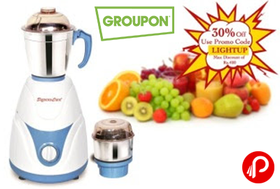 Rs.999 For a SignoraCare Eco Plus 500W 2-Jar Mixer Grinder - Groupon