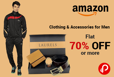Clothing & Accessories for Men   Flat 70% off or more - Amazon