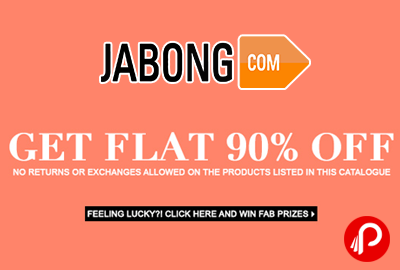 Get 90% off on Clothing, Footwear & Accessories - Jabong