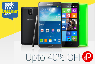 Get UPTO 40% off on Mobile Phones - AskMeBazaar