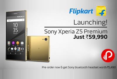 Launching! Sony Xperia Z5 Premium Just Rs. 59,990 - Flipkart