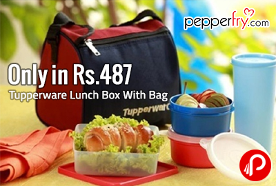 Only in Rs.487 Tupperware Lunch Box With Bag - Pepperfry