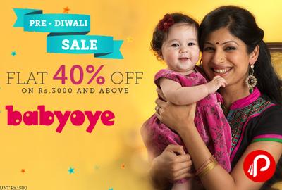 PRE - DIWALI SALE Flat 40% off on Baby Cloths