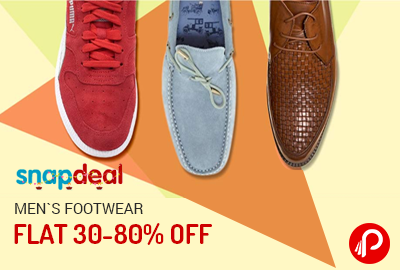 Get Flat 30-80% off on Men's Footwear - Snapdeal