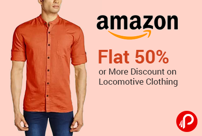 Flat 50% or More Discount on Locomotive Clothing - Amazon