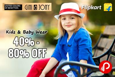 Get 40% - 80% off on Kids & Baby Wear Products - Flipkart