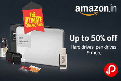 Get UPTO 50% off on Pen Drives, Hard Drives & More - Amazon