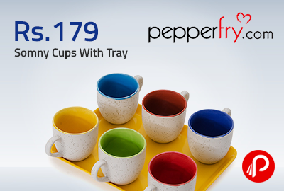 Get 83% OFF Somny Cups With Tray by Somny Online - Pepperfry