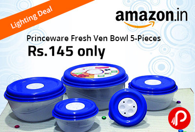 Get Only in ₹145 Princeware Fresh Ven Bowl 5-Pieces - Amazon
