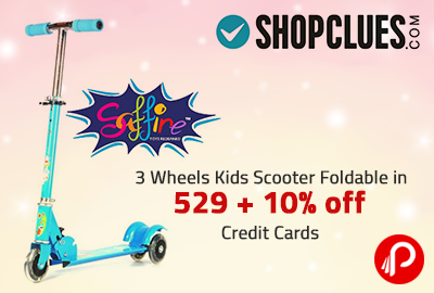 3 Wheels Kids Scooter Foldable in 529 + 10% off Credit Cards - Shopclues