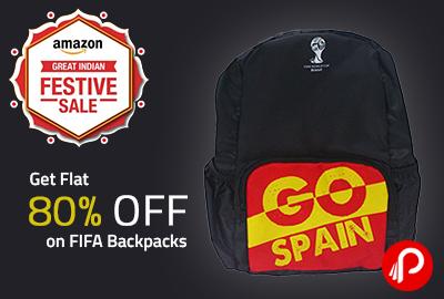 Get Flat 80% OFF on FIFA Backpacks - Amazon