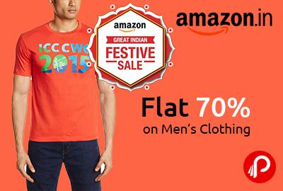 Flat 70% off on Men's Clothing - Amazon