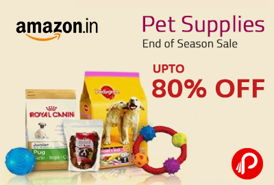 Get Upto 80% off pet supplies & Product - Amazon