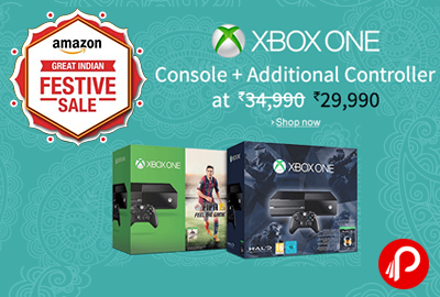 Get Only in Rs.29990 XBOX ONE Halo Console + Additional Controller - Amazon