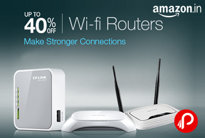 Get UPTO 40% off on Internet Wi-Fi Routers - Amazon