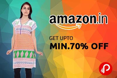 Get Minimum 70% off on Women's Kurti - Amazon