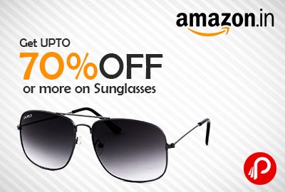 Get UPTO 70% off or more on Sunglasses - Amazon