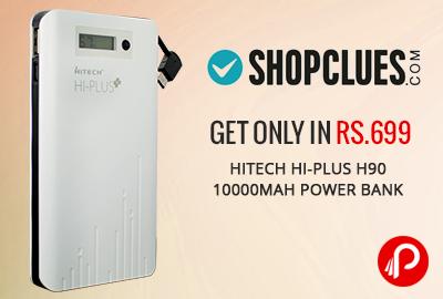 Get Only in Rs.699 Hitech Hi-Plus H90 10000mAh Power Bank - Shopclues